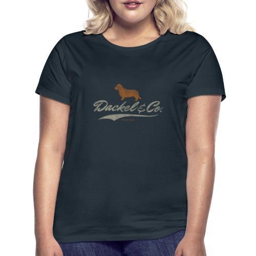 Dackel Co since 2014 Vintage Design Geschenkidee 1 - Frauen T-Shirt