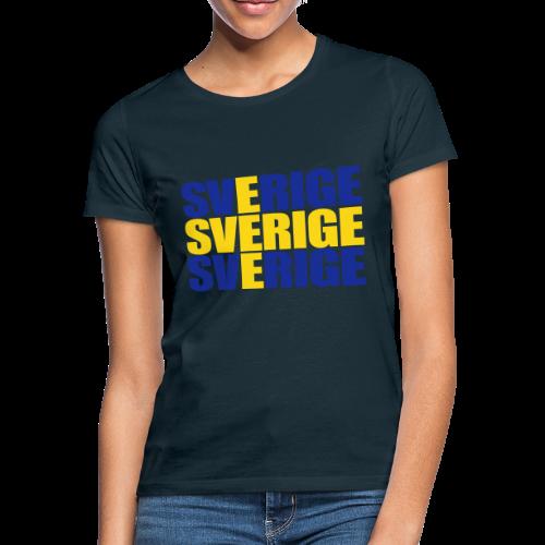 SVERIGE flaggtext - T-shirt dam