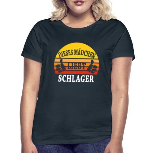 Dieses Mädchen liebt Schlager! Frau Funshirt Fan - Frauen T-Shirt