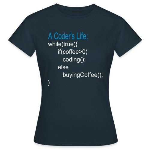 Programmierer Nerd Kaffee Programmieren Spruch - Frauen T-Shirt