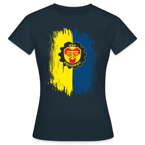 Blau-Gelb mit Wappen - Frauen T-Shirt