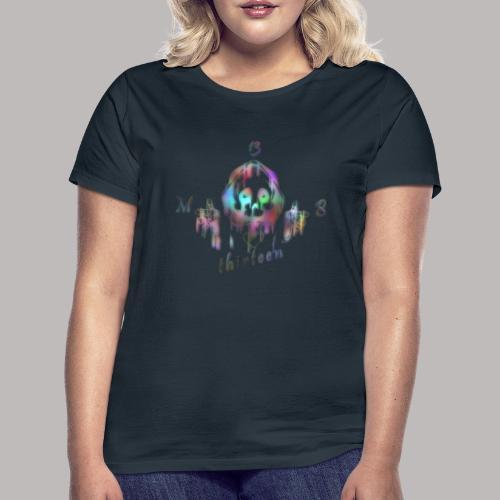 MB13 - skull - rainbow - thirteen - Women's T-Shirt