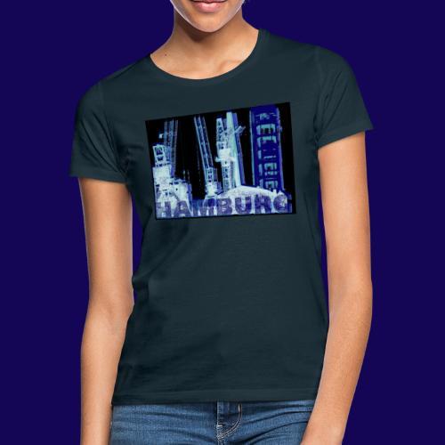 Hamburger Hafen im künstlerischen Siebdruckstil - Frauen T-Shirt