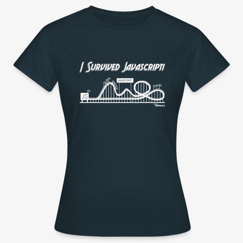 surviving javascript white gif - Women's T-Shirt