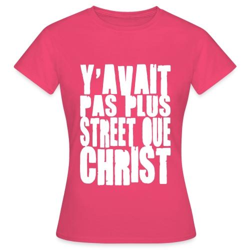 Pas Plus Street Blanc - T-shirt Femme
