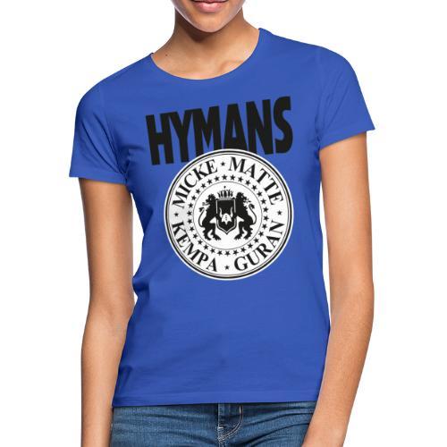 Hymans klassisk svart vit logo tryck - T-shirt dam