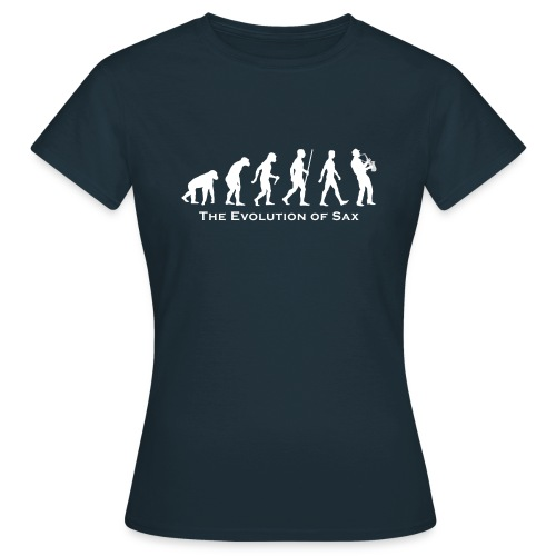 The Evolution Of Sax - Camiseta mujer