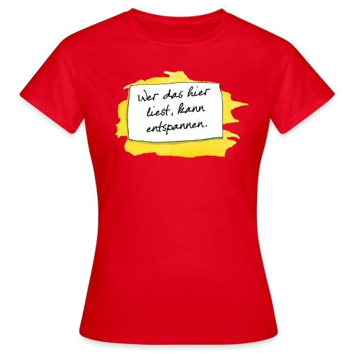 Janosch Wer Das Liest Spruch - Frauen T-Shirt