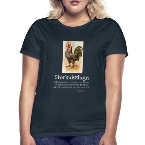 Storkukslugn - T-shirt dam
