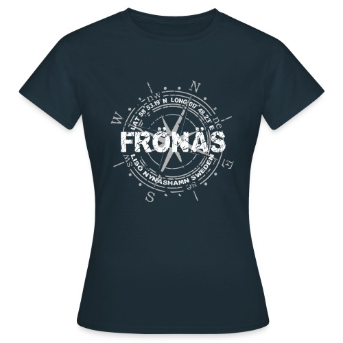 fronas loggo whitegrey - T-shirt dam