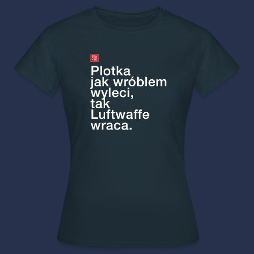 plotka - napis jasny - Koszulka damska