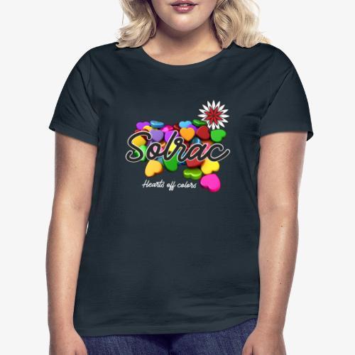 SOLRAC Hearts black - Camiseta mujer