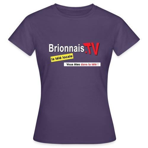 BTV logo shirt dos - T-shirt Femme