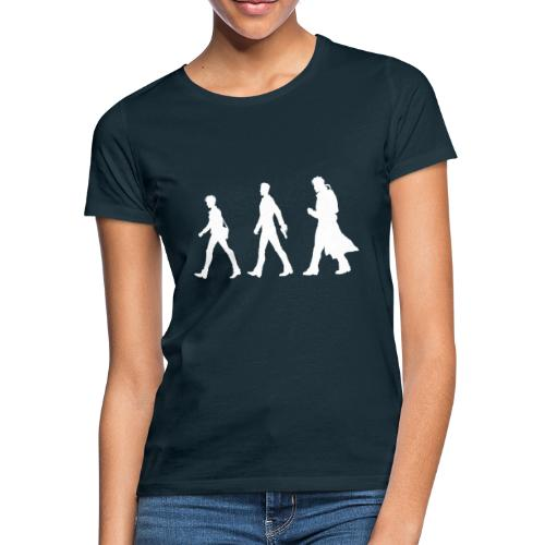 White Design With Title and Characters - Women's T-Shirt