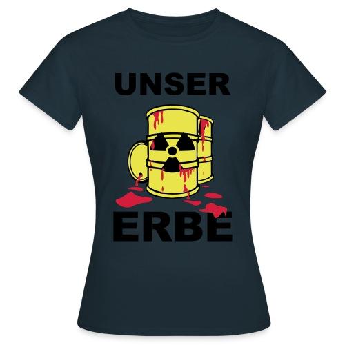 T-Shirt Frau Unser Erbe grün© by kally ART® - Frauen T-Shirt