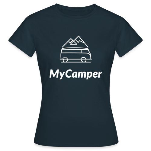 MyCamper Logo Weiss - Frauen T-Shirt