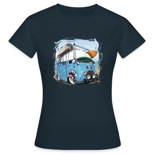Estafette Van Surf sur la plage - T-shirt Femme