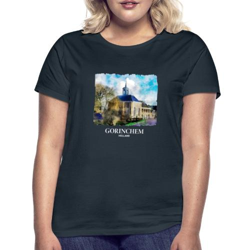 Watercolor painting Dalemse kerk Gorinchem - Vrouwen T-shirt