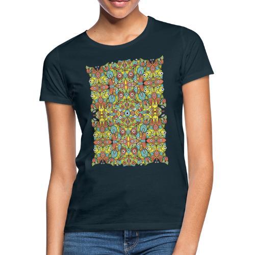 Weird creatures multiplying infinitely - Women's T-Shirt