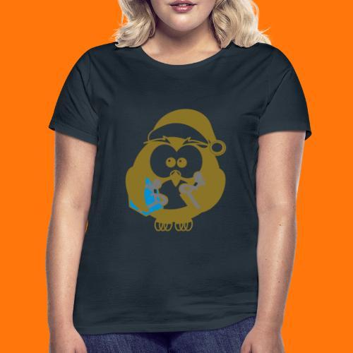 Weihnachts-Eule - Frauen T-Shirt