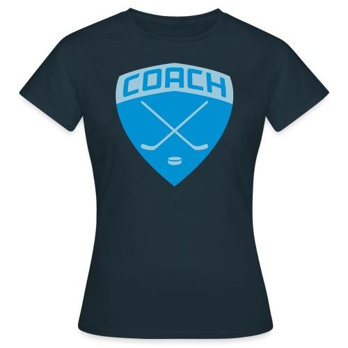 ice-hockey-coach-blue_vec - Women's T-Shirt