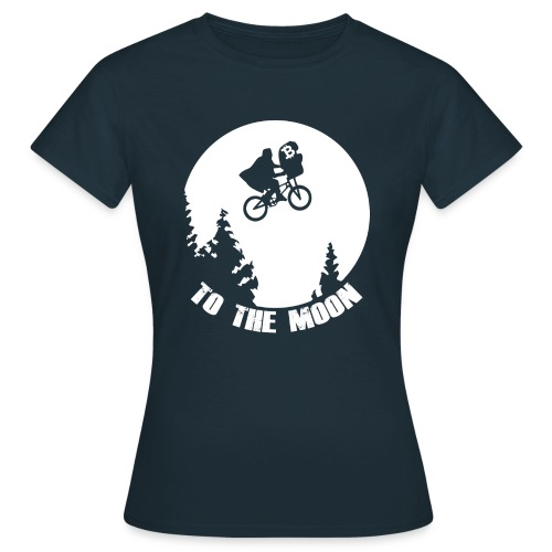 to the moon,bitcoin - Vrouwen T-shirt