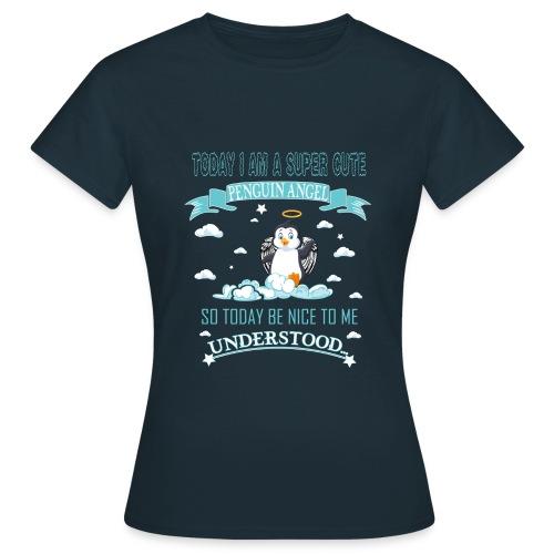 Pinguin Engel Weihnachten Antarktis Shirt Geschenk - Frauen T-Shirt