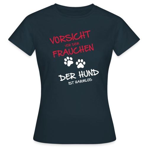 Vorschau: Vorsicht vor dem Frauchen - Frauen T-Shirt