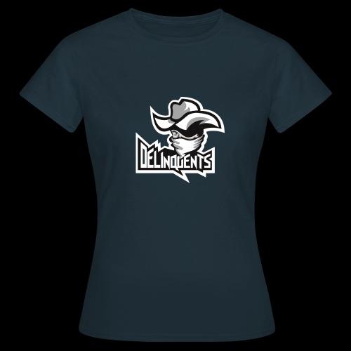 Delinquents Hvidt Design - Dame-T-shirt