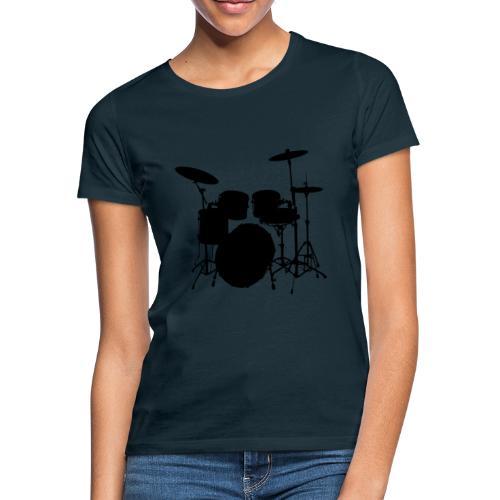 Drums in black - Camiseta mujer