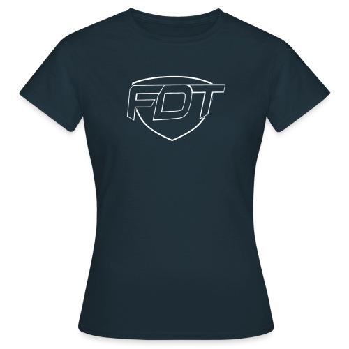 FDT initial HVIT - T-skjorte for kvinner
