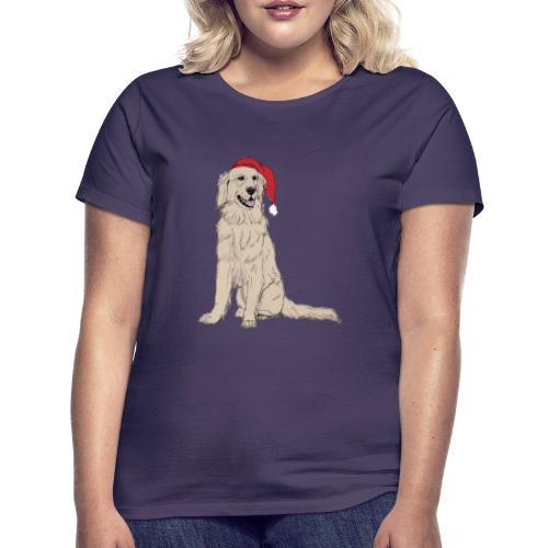 Golden Retriever Christmas - Dame-T-shirt