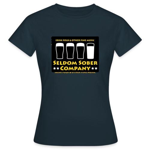 Seldom Sober Company Bier und Milchgläser - Frauen T-Shirt