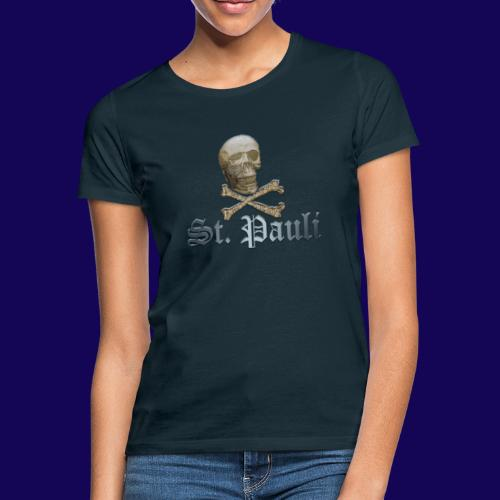 St. Pauli (Hamburg) Piraten Symbol mit Schädel - Frauen T-Shirt