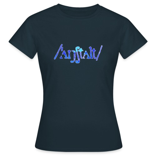 /'angstalt/ logo gerastert (blau/weiss) - Frauen T-Shirt
