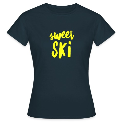 Sweet Ski Yellow - Frauen T-Shirt