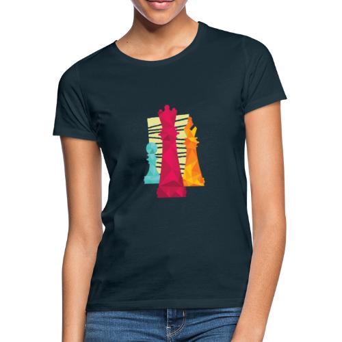 Schach Figuren Bauer König Läufer - Frauen T-Shirt