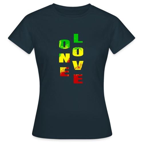 One Love Rasta Colors Peace Design - T-shirt Femme