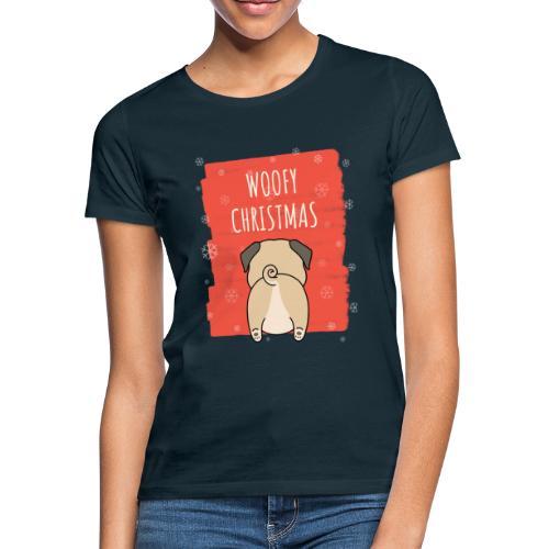 Grappige Kerstmis hond Woofy Christmas origineel - Vrouwen T-shirt