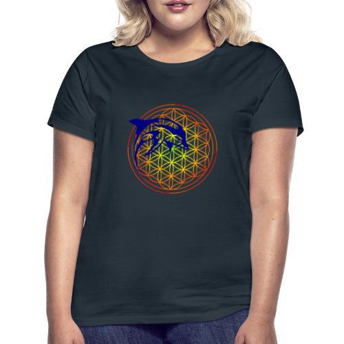 fleur de vie dauphin - T-shirt Femme