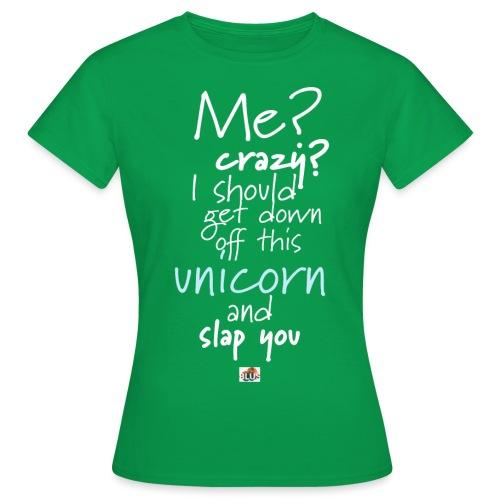 Crazy Unicorn - Dark - Women's T-Shirt