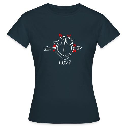 luv white gif - Women's T-Shirt