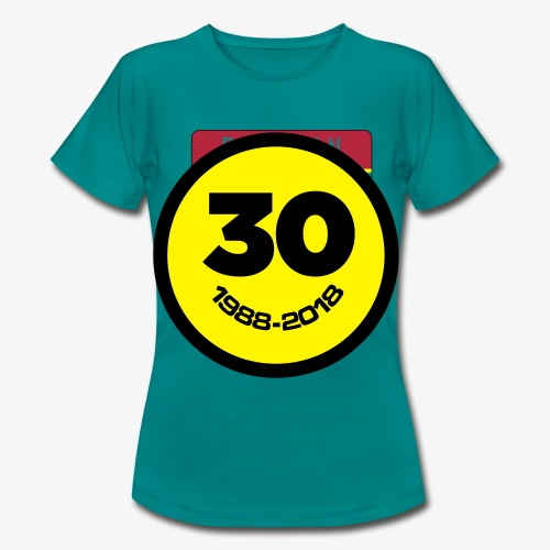 30 Jaar Belgian New Beat Smiley - Vrouwen T-shirt