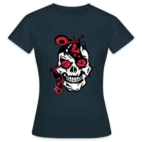 tete mort moto motrocycle oeil skull - T-shirt Femme