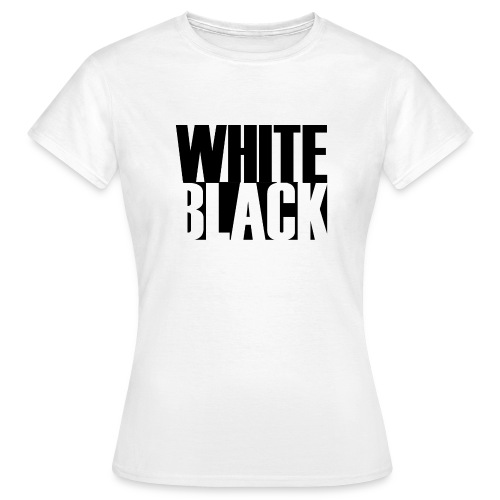 White, Black T-shirt - Vrouwen T-shirt