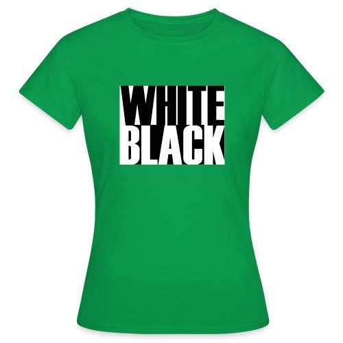 White, Black T-shirt - Vrouwen T-shirt