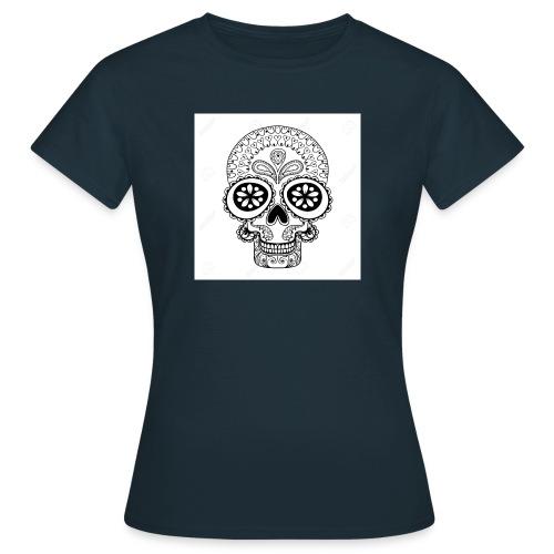 51457190 Disegno a mano Cranio in stile zentangle - Maglietta da donna