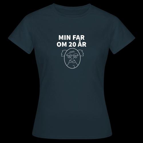 Min Far Om 20 År (Moto) - Dame-T-shirt