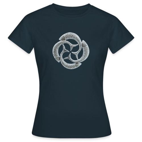 Silver Fish Circle - Women's T-Shirt