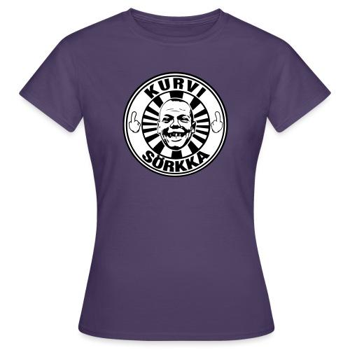 Kurvi - Sörkka - mustavalko - Naisten t-paita